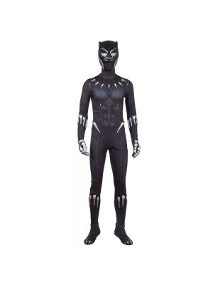 2018 Black Panther Costume Black Printing Halloween Cosplay Costume