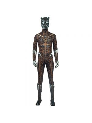 2018 Black Panther Costume Leopard Printing Halloween Cosplay Costume
