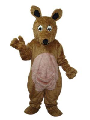 Brown Kangaroo Mascot Costume