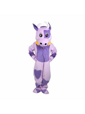 Purple Cow Mascot Costume