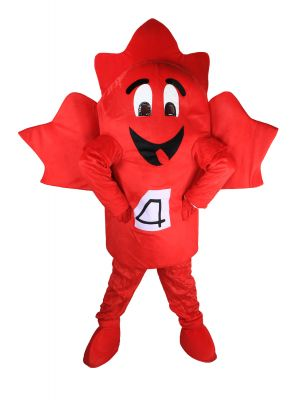 Red Maple Leaf Mascot Costume Size Large