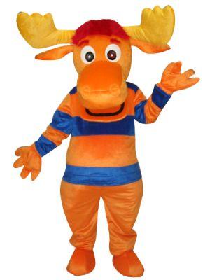 Orange-Blue Backyardigans Moose Mascot Costume