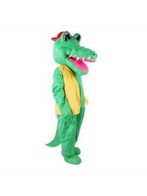 Alligator Red Hat Long Teeth Mascot Costume