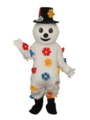 Colorful Snow Man Snowman Christmas Mascot Costume