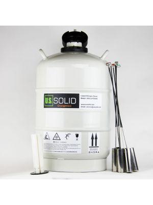 30L Cryogenic Container Liquid Nitrogen Dewar Tank Empty