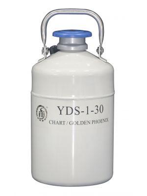 1 L Liquid Nitrogen Container Cryogenic LN2 Tank Dewar Empty with Strap