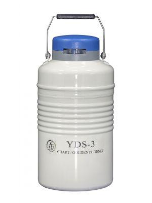3 L Liquid Nitrogen Container Cryogenic LN2 Tank Dewar Empty with Strap