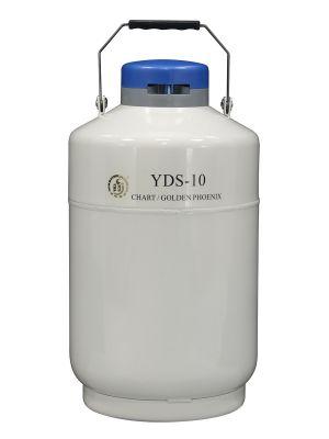 10 L Liquid Nitrogen Container Cryogenic LN2 Tank Dewar Empty with Strap