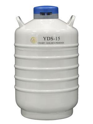 15 L Liquid Nitrogen Container Cryogenic LN2 Tank Dewar Empty YDS-15