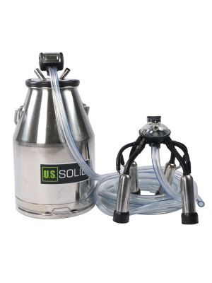 U.S. Solid® Cow Milker Bucket Milking Machines 25L 304 Stainless Steel