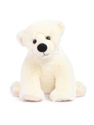 Joyfay® Stuffed Iceberg Glacier Polar Bear- Small, Plush, and Wintry White 20""