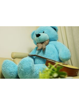"JOYFAY 78"" Giant Blue Teddy Bear 6.5 ft Full Stuffed Toy"
