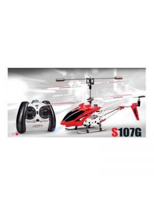 Syma S107G Remote Control Helicopter with Gyroscope – Red