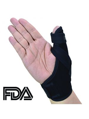 Thumb Splint- FDA Approved Thumb Spica Splint for Stabilizing your Thumb in Case of Injury, (L), a U.S. Solid Product